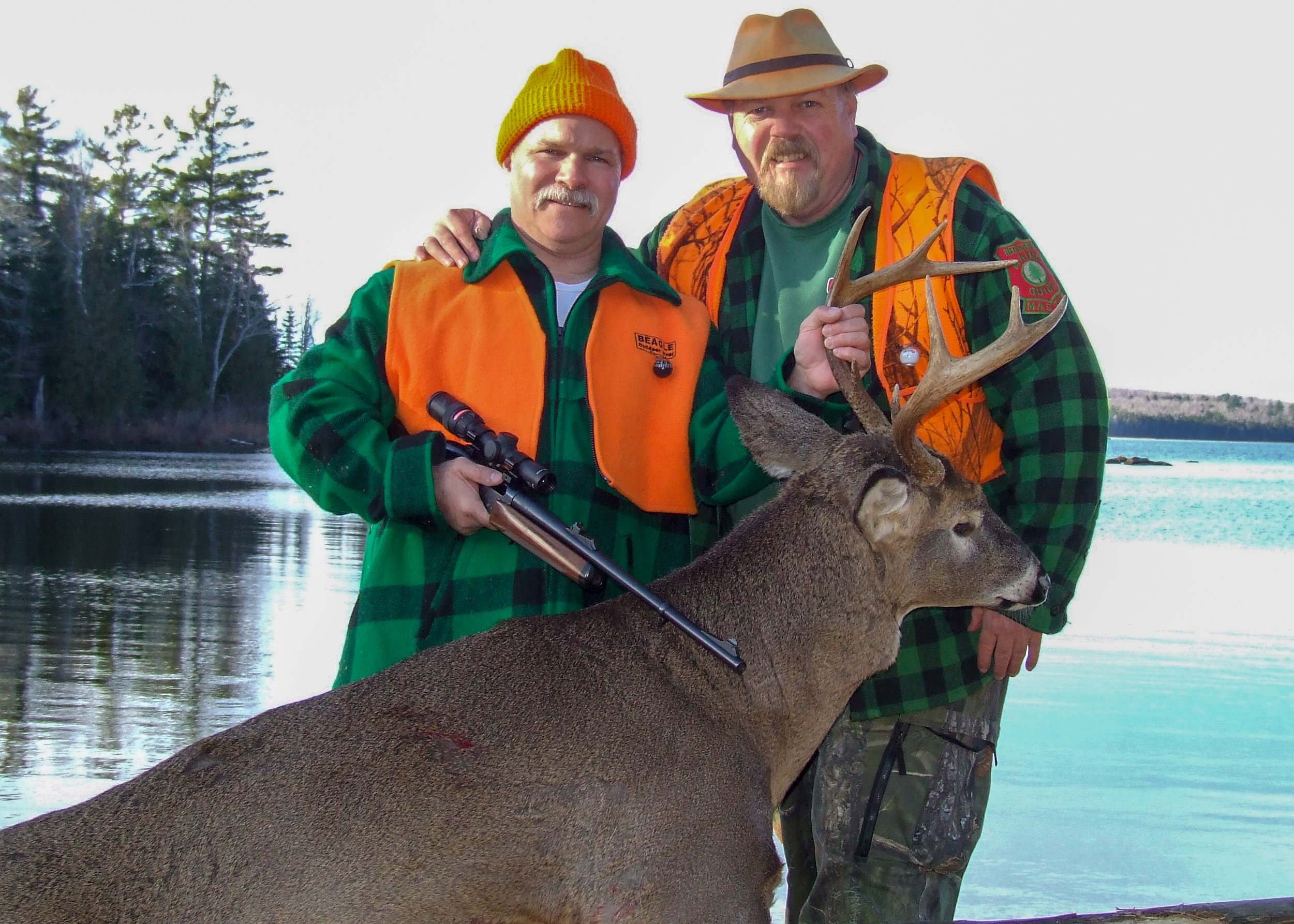 Trophy whitetail deer hunts in Maine