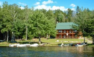 Wilderness Escape Outfitters lodge from water