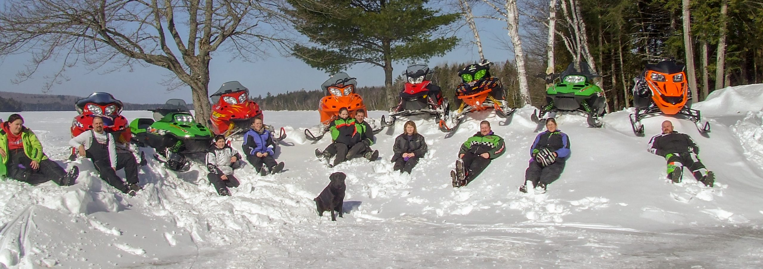 Snowmobiling fun with family and friends